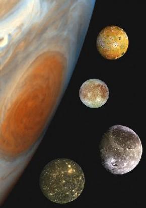 Большое Красное пятно Юпитера и галилеевы «луны»